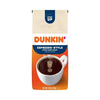 Dunkin' Donuts Espresso-Style Extra Dark Roast Ground Coffee - 10oz