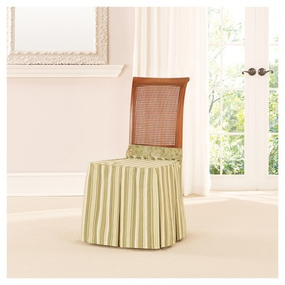 Sage Lucky Stripe Dining Room Chair Slipcover   Sure Fit : Target