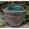 Liberty Garden 1925 Banded High Density Resin Outdoor Garden Hose Pot with Drainage, Antique Bronze - image 2 of 3