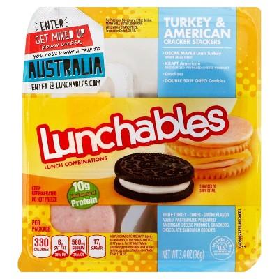 Oscar Mayer Lunchables Turkey & American Cracker Stackers 3.4 oz