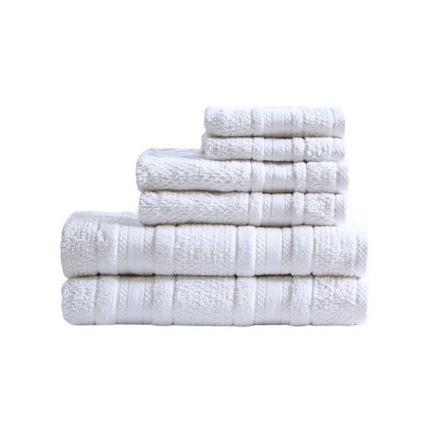 6pc Roman Super Soft Cotton Bath Towel Set