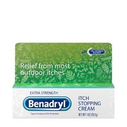 Benadryl Extra Strength Itch Relief Cream Topical Analgesic - 1oz