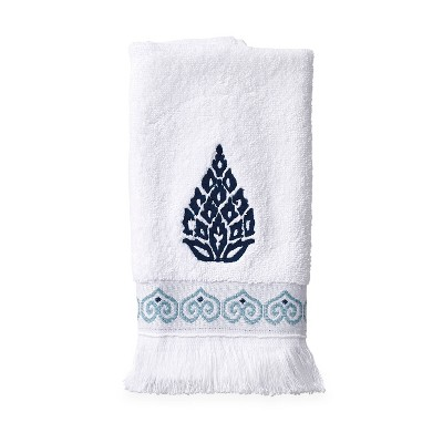 Capri Medallion Tip Towel Blue - Destinations
