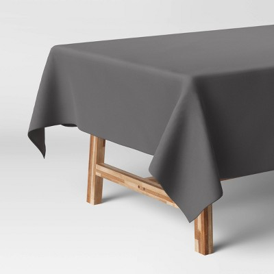 """84"""" x 60"""" Solid Tablecloth Gray - Threshold™"""