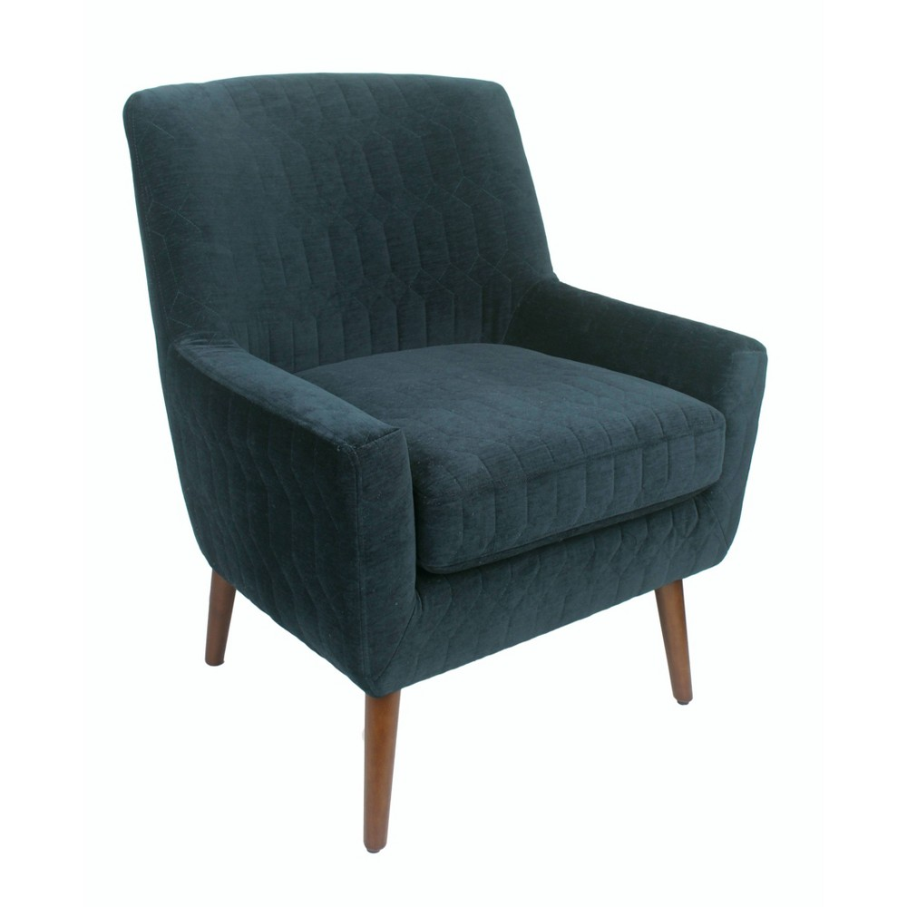 Gerrit Modern Accent Chair Quilted Navy - HomePop was $339.99 now $254.99 (25.0% off)