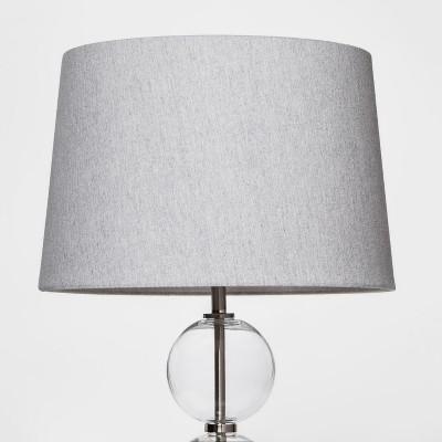 Large Linen Mod Drum Lampshade Gray - Threshold™