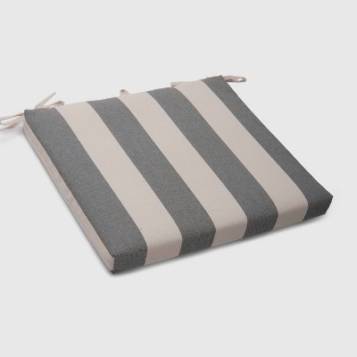 Cabana Stripe Outdoor Seat Cushion Black - Threshold™