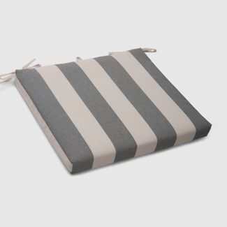 Cabana Stripe Outdoor Seat Cushion Black - Threshold™