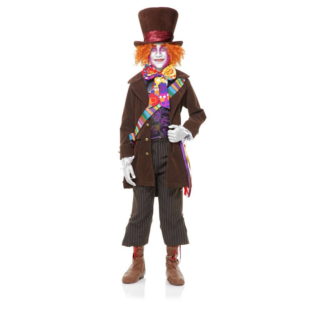 Image of Halloween Boys' Alice in Wonderland Mad Hatter Halloween Costume XS, Boy's, MultiColored
