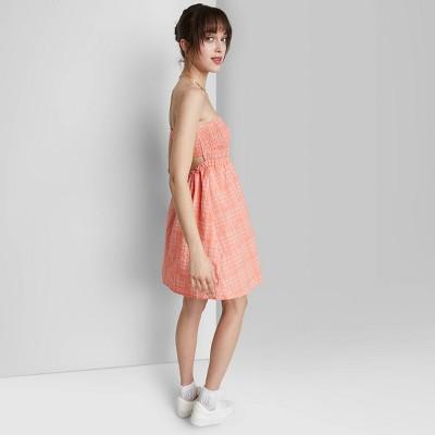 Women's Smocked Tube Top Babydoll Dress - Wild Fable™