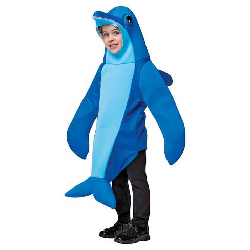 Kids' Rasta Imposta Dolphin Costume Blue 3T-4T - image 1 of 1