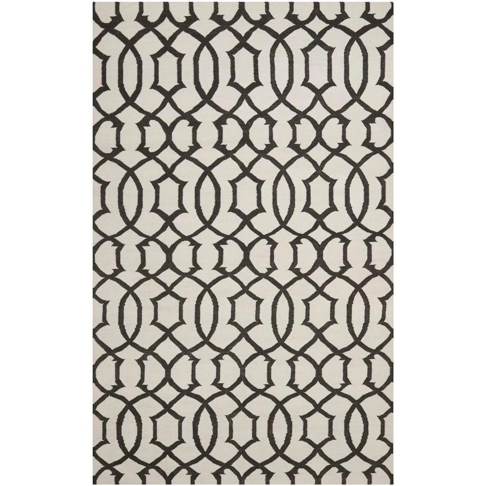 9'X12' Woven Geometric Area Rug Ivory/Charcoal (Ivory/Grey) - Safavieh