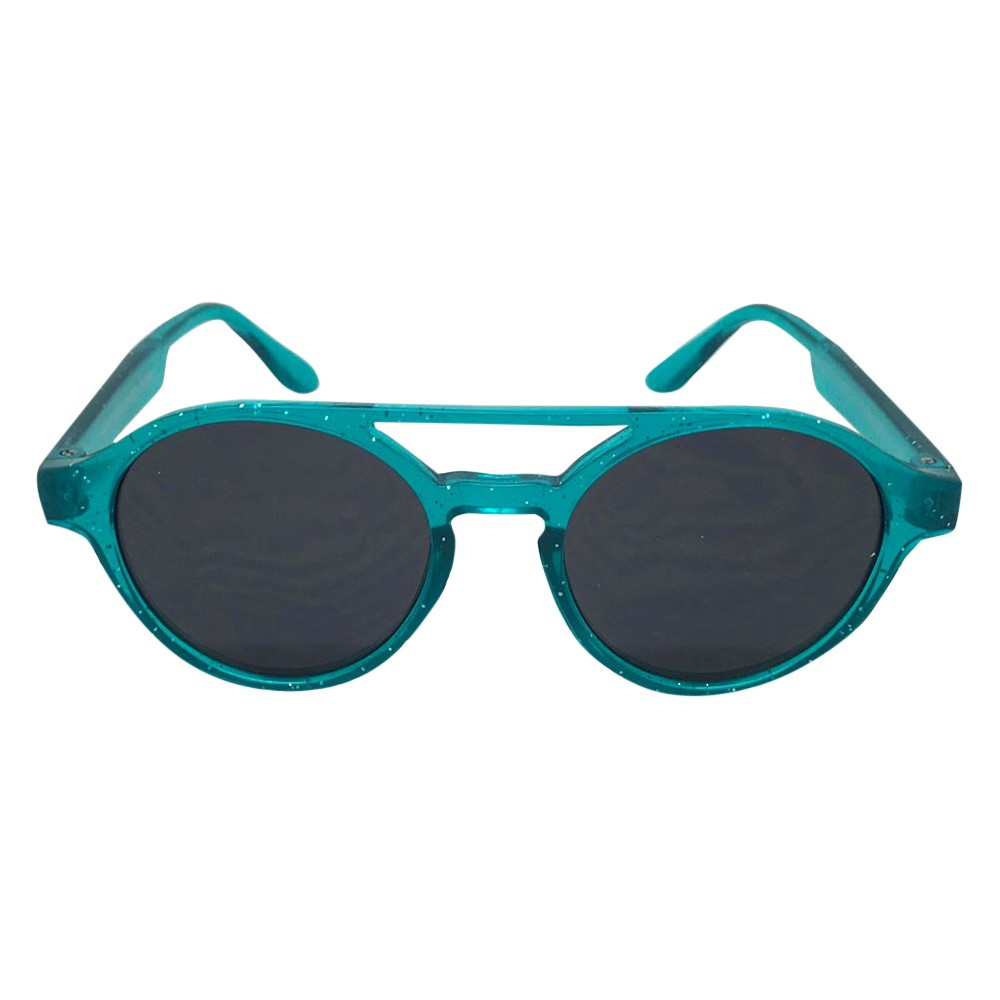 Toddler Girls' Glitter Round Sunglasses - Cat & Jack Teal (Blue) One Size