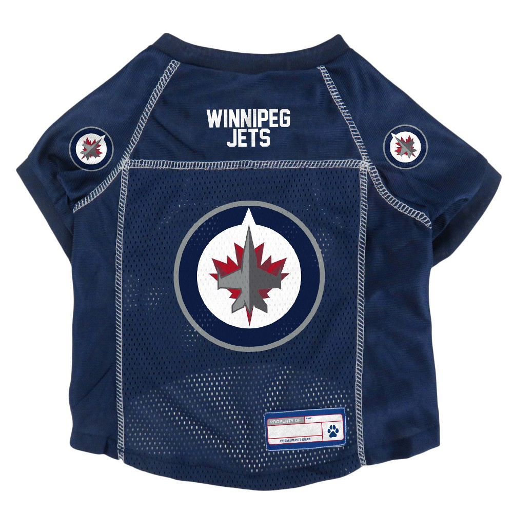 NHL Winnipeg Jets Pet Jersey - L, Multicolored