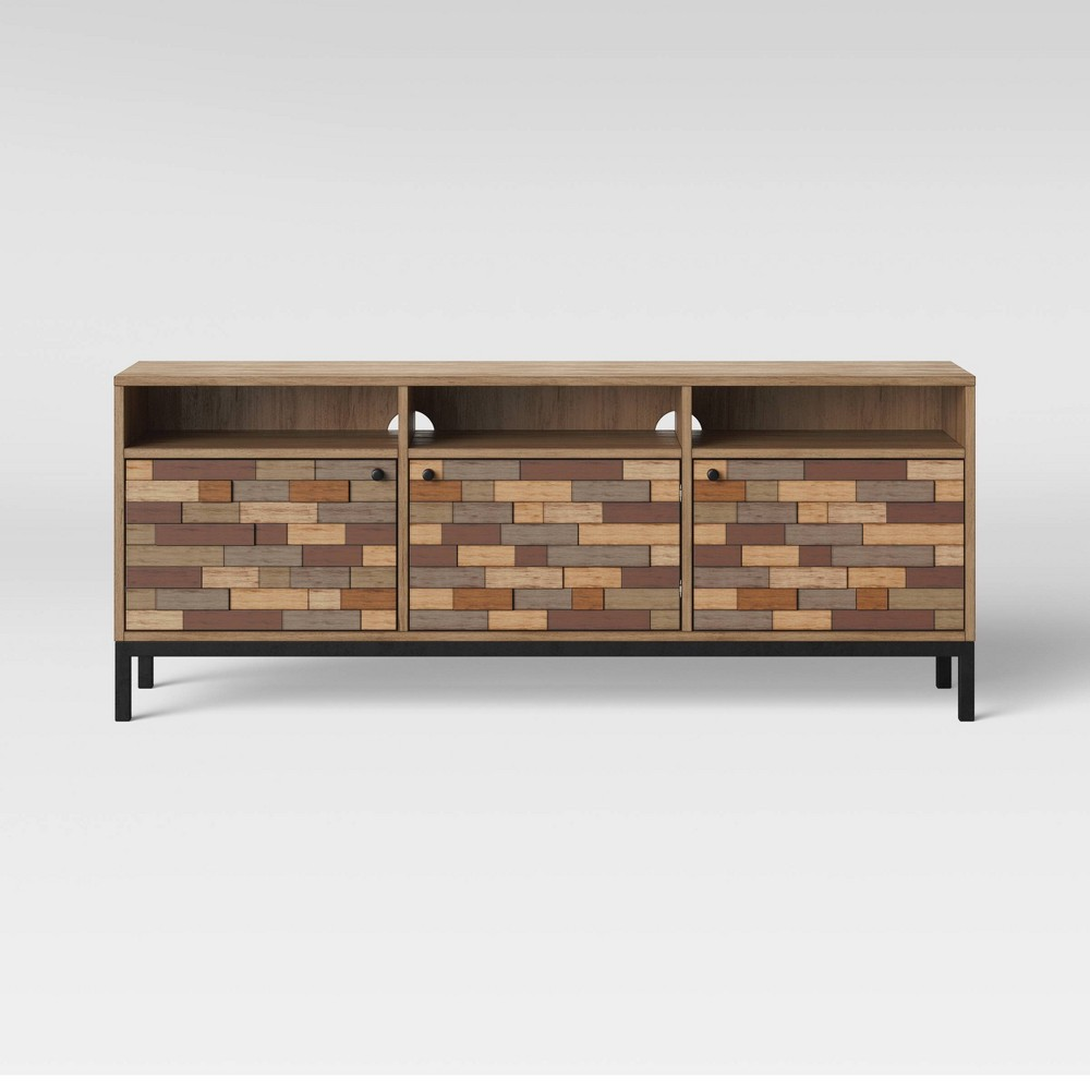 Frederick Pieced Wood Media Cabinet with Metal Legs Brown - Project 62