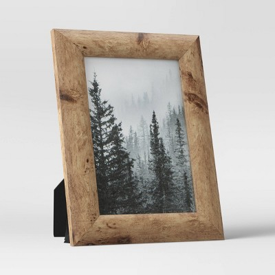 """4"""" x 6"""" Half Dome PS Picture Frame Brown - Threshold™"""