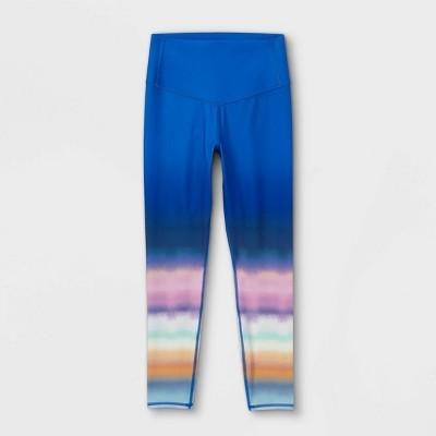 Girls' Ombre Print Leggings - All in Motion™ Rainbow