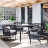 Standish 4 Person Patio Dining Table Black - Project 62™ - image 2 of 3