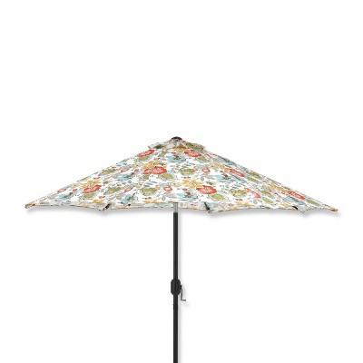 9' Outdoor/Indoor Patio Market Umbrella Alatriste Ivory - Pillow Perfect