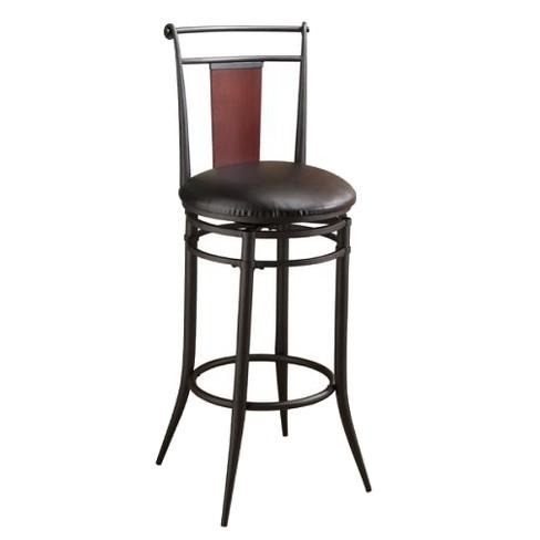 "Midtown Swivel 31"" Barstool Metal/Black - Hillsdale Furniture - image 1 of 1"