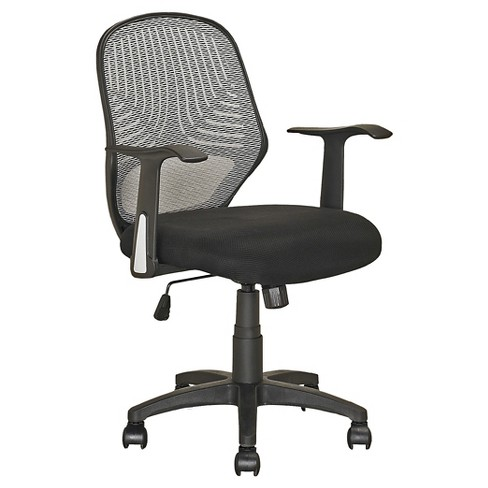 Workspace Executive Office Chair Leatherette and Mesh Black - CorLiving - image 1 of 4