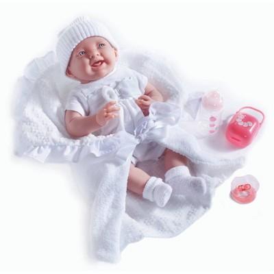 "JC Toys La Newborn 15.5"" Baby Doll - White Outfit"