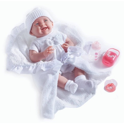 """JC Toys La Newborn 15.5"""" Baby Doll - White Outfit - image 1 of 4"""