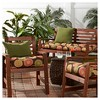 Flowers on Chocolate Outdoor Seat Cushion - Greendale Home Fashions - image 3 of 4