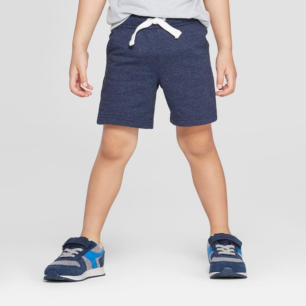Toddler Boys' Knit Pull-On Shorts - Cat & Jack Navy 18M, Blue