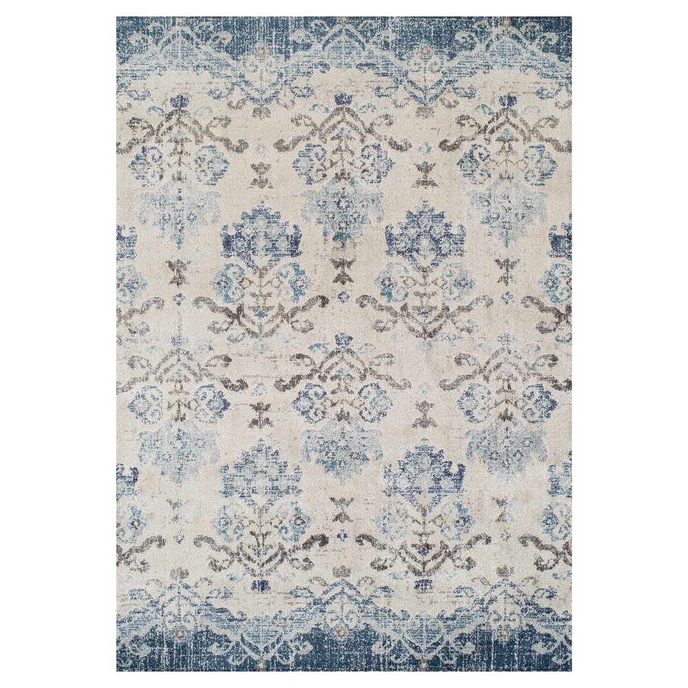 9'6X13' Blue Solid Woven Area Rug - Addison Rugs