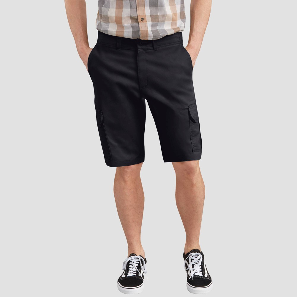 "Image of ""Dickies Men's 11"""" Regular Fit Cargo Shorts - Black Heather 30, Men's, Black Grey"""