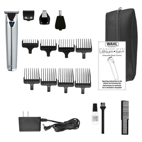 Wahl Stainless Steel Lithium Ion Men's Multi Purpose Beard, Facial Trimmer  and Total Body Groomer - 9818 : Target