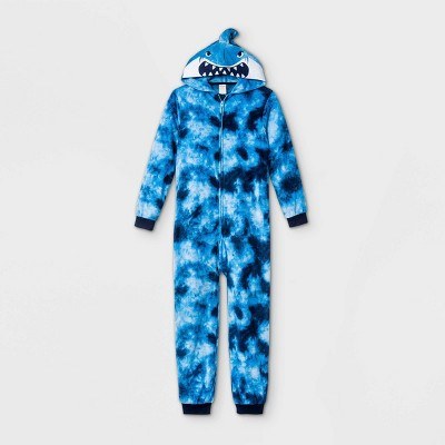 Boys' Shark Tie-Dye Union Suit - Cat & Jack™ Blue