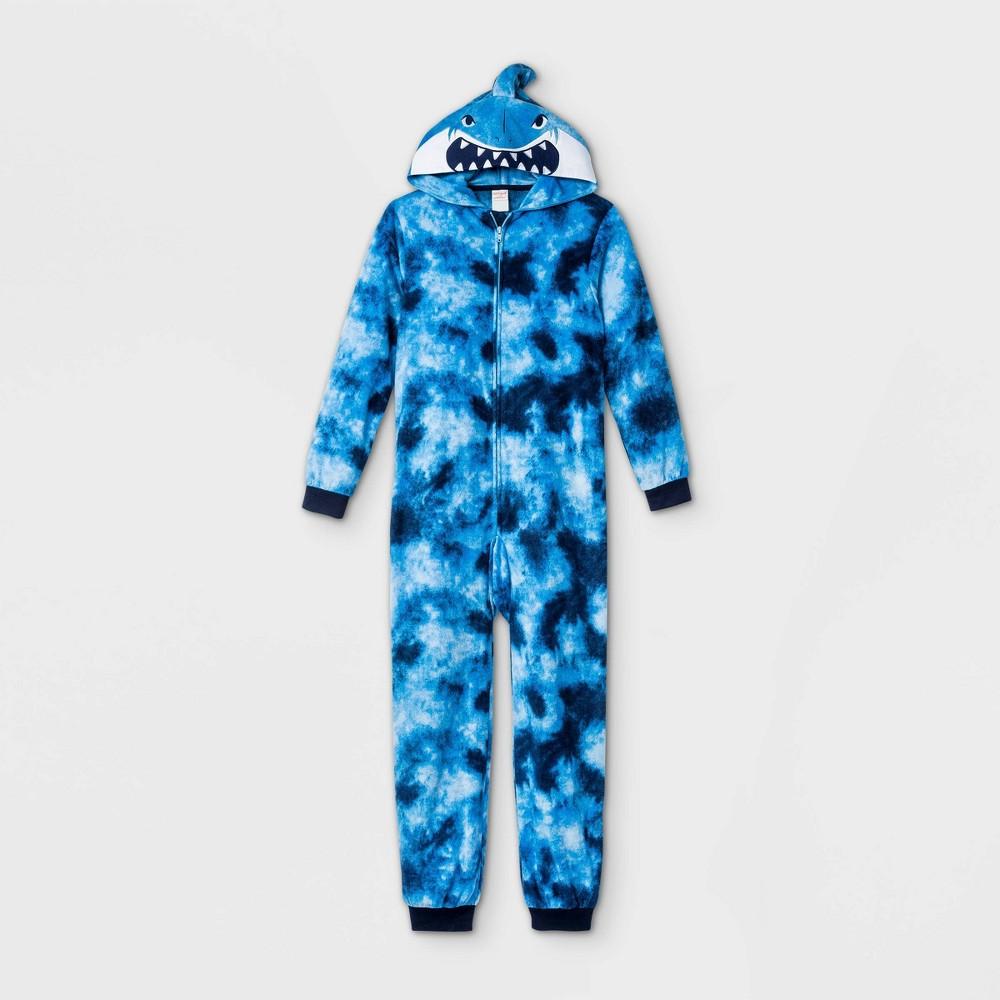Boys 39 Shark Tie Dye Union Suit Cat 38 Jack 8482 Blue Xl