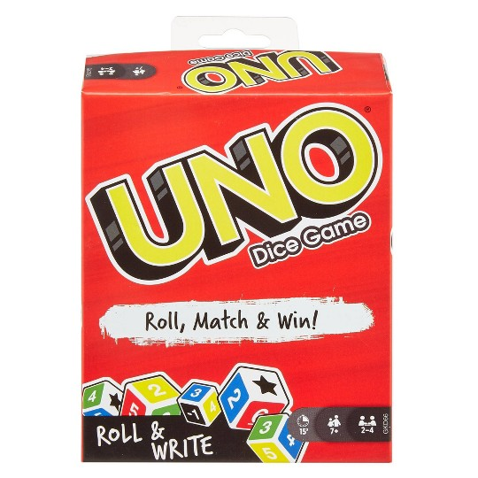 UNO Roll & Write Card Game image number null