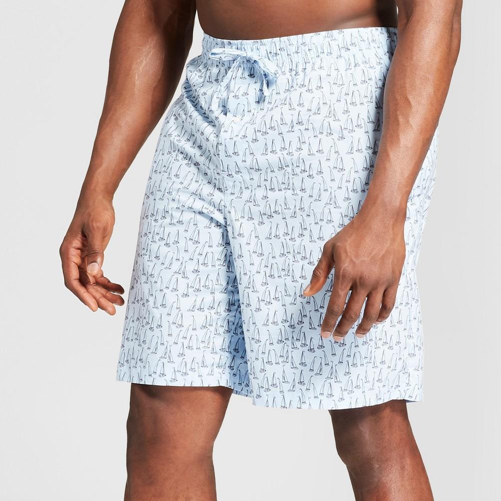 Men's Big & Tall Woven Pajama Shorts - Goodfellow & Co Bayshore Blue 5XB