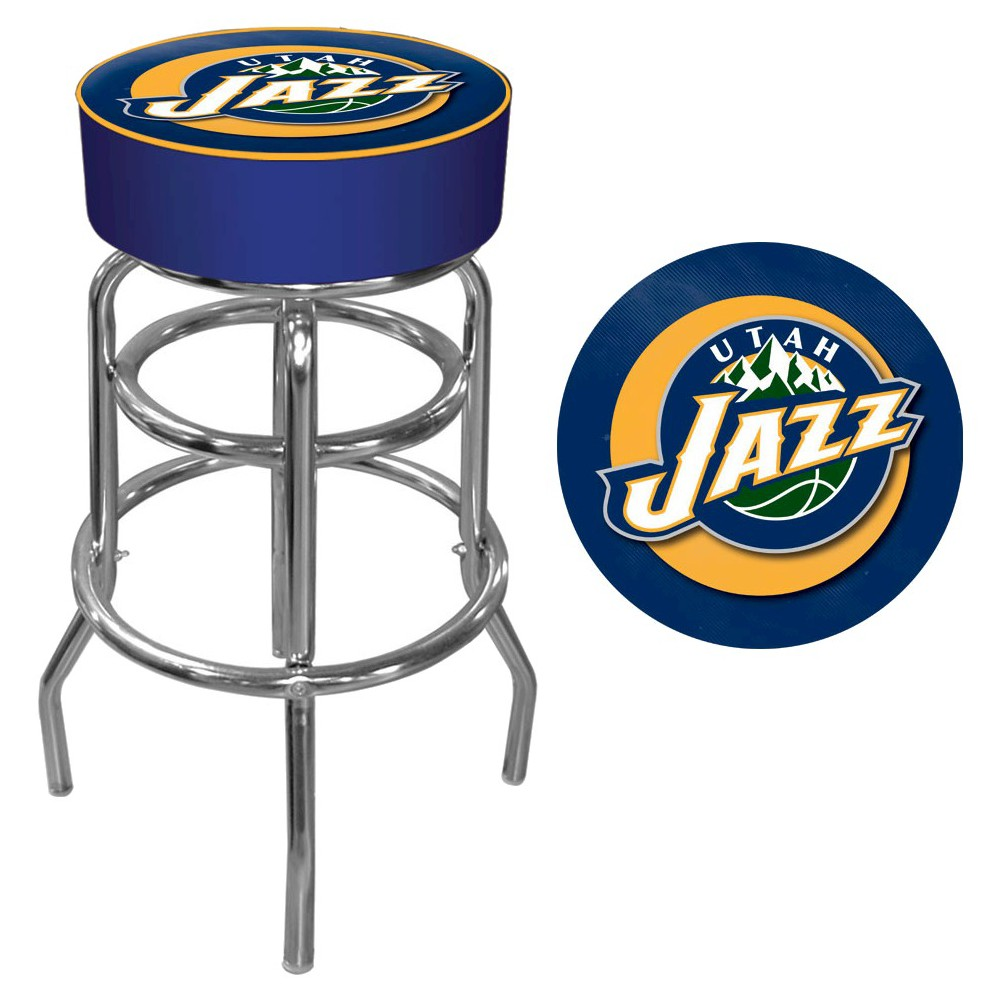 Utah Jazz Padded Swivel Bar Stool with Back