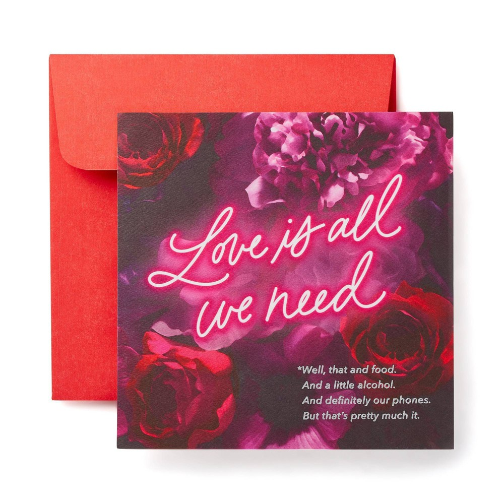 """Image of """"""""""""Love and Food"""""""" Valentine's Day Card"""""""