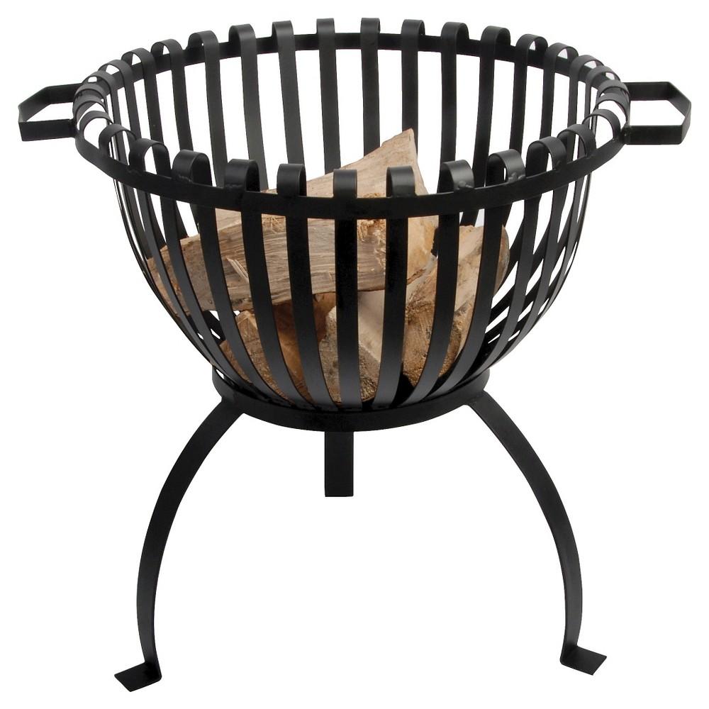 Esschert Design Tulip Design Fire Pit Basket - Black