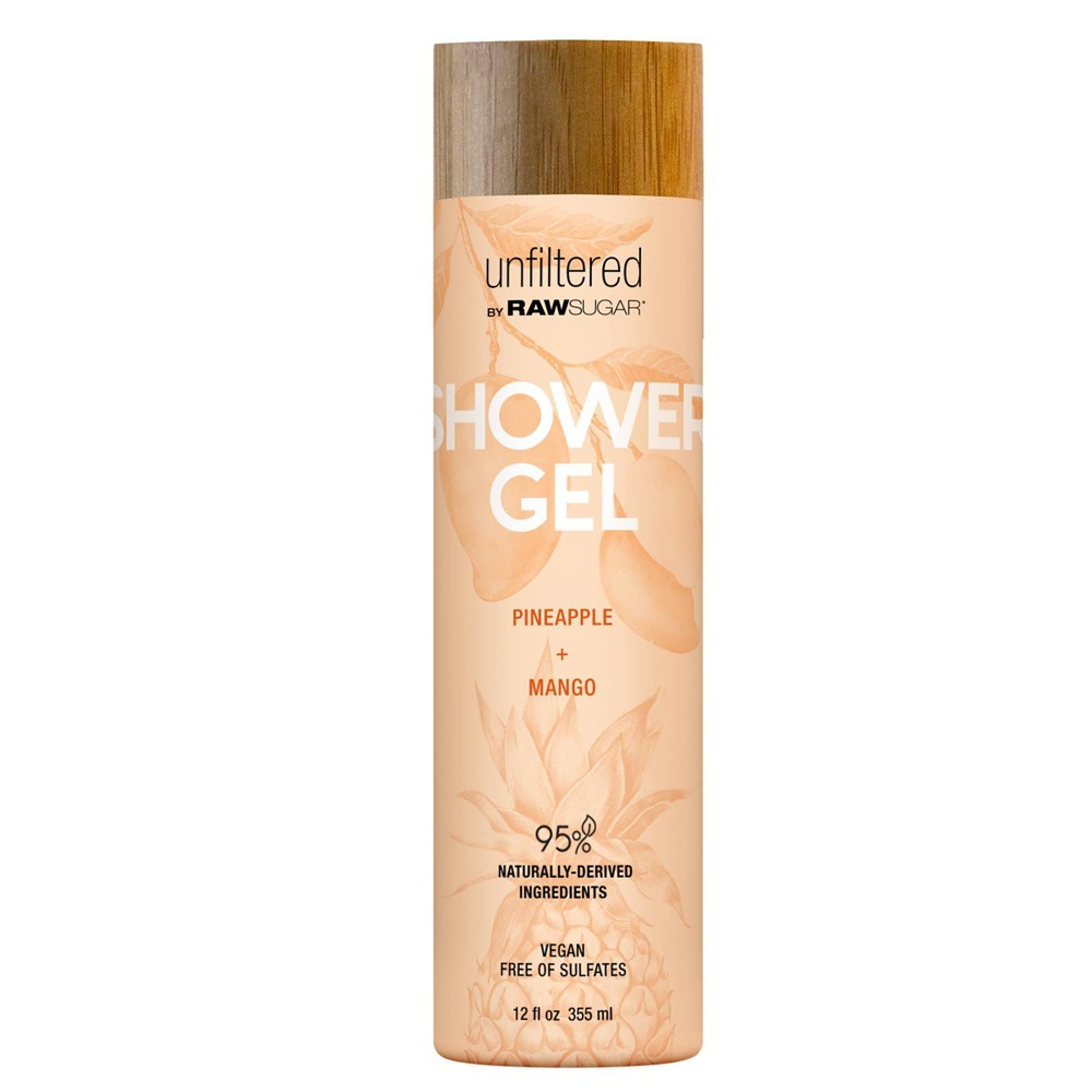 Unfiltered By Raw Sugar Pineapple and Mango Shower Gel 12 fl oz