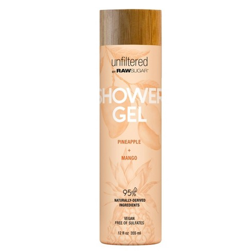 Unfiltered By Raw Sugar Pineapple and Mango Shower Gel - 12 fl oz - image 1 of 3