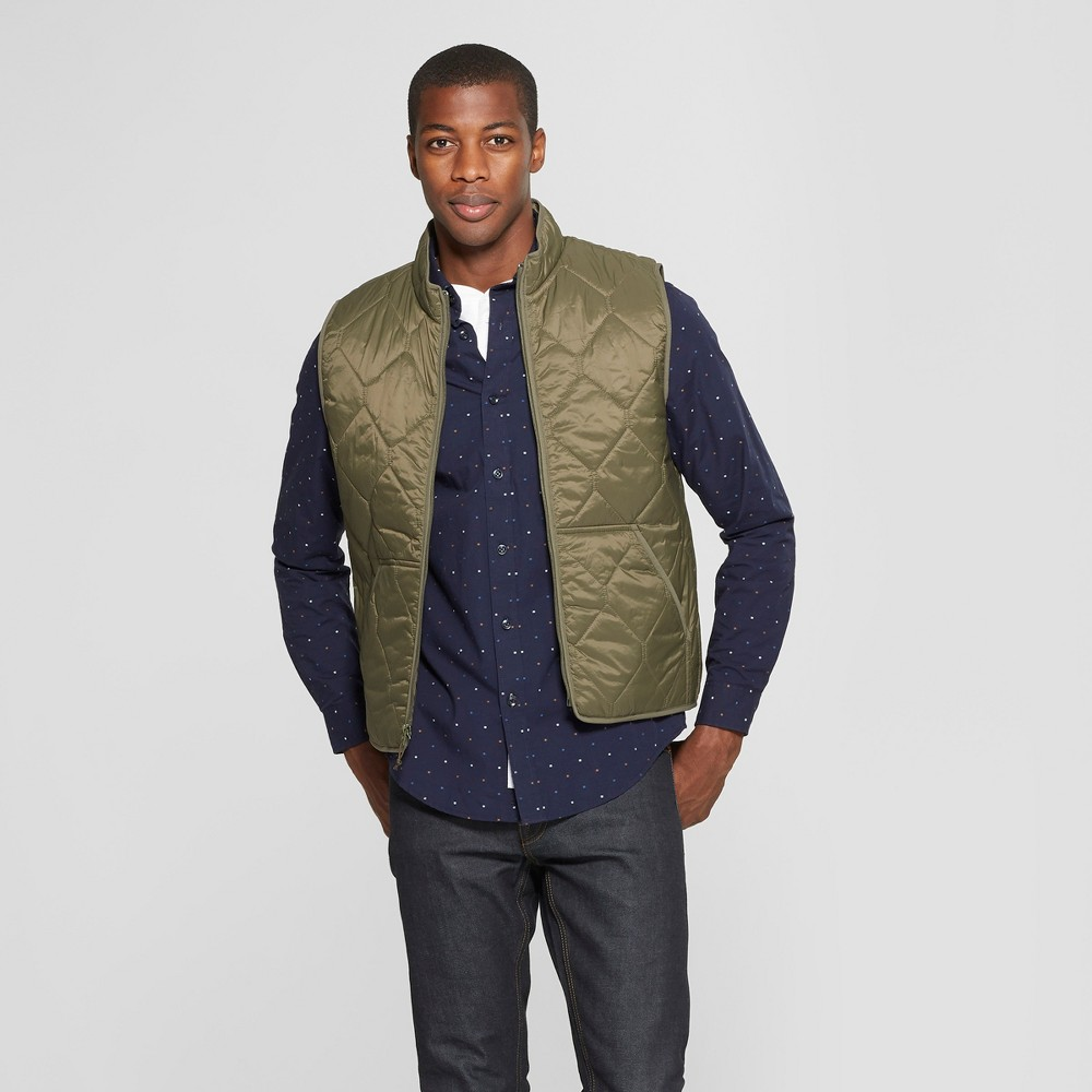 Men's Lightweight Quilted Vest - Goodfellow & Co Muddied Basil L