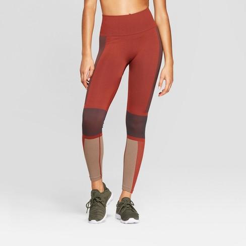 595c181893c33 Women s High-Waisted 7 8 Seamless Leggings - JoyLab™ Madder Brown XL ...