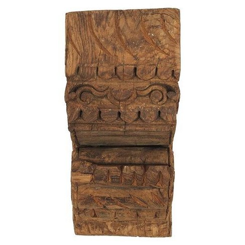 Hand Carved Wood Wall Sconce - 3R Studios - image 1 of 1