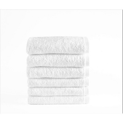 6pc Arsenal Turkish Hotel Collection Bath Towel Set White - Makroteks