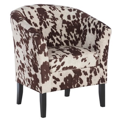 Simon Chair in Udder Madbess Brown/White - Linon