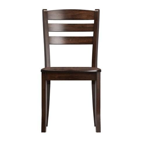 Astounding Set Of 2 Dining Chairs Dark Cappuccino Corliving Inzonedesignstudio Interior Chair Design Inzonedesignstudiocom