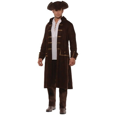 Adult Pirate Coat Set Halloween Costume Brown One Size