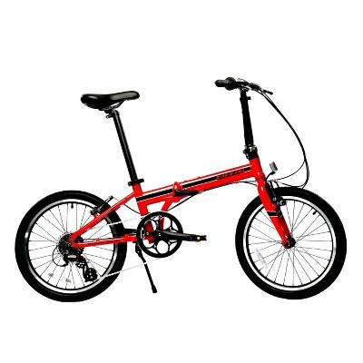 """ZiZZO Urbano 8-Speed Aluminum 20"""" Folding Bike - Red"""