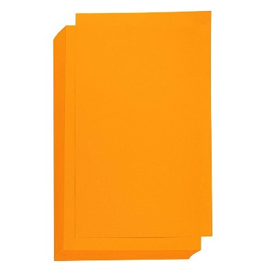 Best Paper Greetings 60 Sheets Orange Colored Offset Cardstock Paper for Brochure, Legal Size 8.5 x 14 in